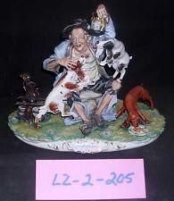 Buy CAPODIMONTE Old Man witrh Dogs Enzo Arzenton Laurenz Sculpture COA Italy