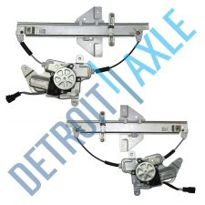 Buy Pair Rear Driver and Passenger Power Power Window Regulator Assembly w/ Motor