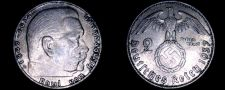Buy 1937-D German 2 Reichsmark World Silver Coin - Germany 3rd Reich