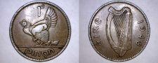 Buy 1948 Irish 1 Penny World Coin - Ireland