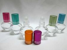 Buy 25 Glass Bottles Roll On Cap Travel Cologne Perfume Cosmetics Essential Oil 5 ml
