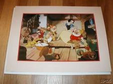 Buy Disney Snow White Dancing with 7 Dwarfs Gold Seal Lithograph