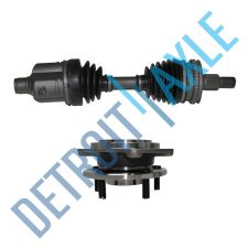 Buy 2 pc Kit - Front Driver CV Axle Shaft w/ ABS + Wheel Hub and Bearing Assembly