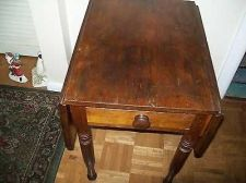 Buy antique pembroke end/side drop leaf table knob pull out drawer fluted legs 1800/