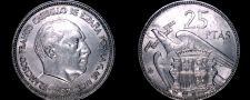 Buy 1957 (65) Spanish 25 Peseta World Coin - Spain Caudillo