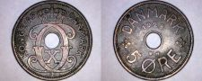 Buy 1928 Danish 5 Ore World Coin - Denmark