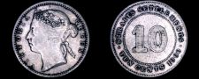 Buy 1900 Straits Settlements 10 Cent World Silver Coin - British East India Company