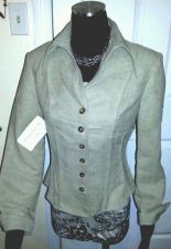 Buy NWT Women's Career Suit Blazer Sz 8 Pants Sz 10 Olive Velvet/Polyester by BKB