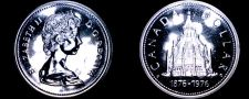 Buy 1976 PL Canadian Silver Dollar World Coin - Canada Centennial Library Building