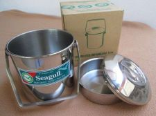 Buy Stainless Steel New Canister 1.5 L.SET of 3 pcs Soup Pot & Lid Picnic Lunch Box