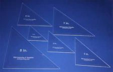 """Buy Laser Cut Quilt Templates- 6 Piece Triangle - Clear Acrylic 1/8"""""""