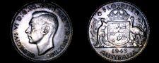 Buy 1943(m) Australian 1 Florin World Silver Coin - Australia