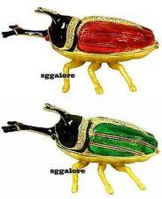 Buy RUCINNI Swarovski Crystals Jeweled HORNED BEETLE Bug Insect Trinket Jewelry BOX