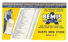 Buy New York Dalton Ink Blotter Advertising Burts Seed Store Bemis Extra Heay ~55