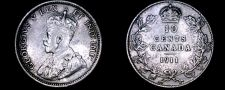 Buy 1911 Canada 10 Cent World Silver Coin - Canada - George V