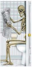 Buy Skeleton Halloween Bathroom Restroom Party Prop House Wall Door Cover Haunted