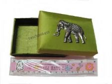 Buy NEW LIGHT & GREEN THAI SILK WITH ELEPHANT SILVER COLOR NAMECARD BOX