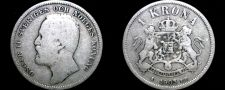 Buy 1903 Sweden 1 Kronor Krona World Silver Coin