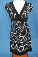 Buy Size Small - Ruby Rox - Black White - Womens SunDress Casual Career Church S/S