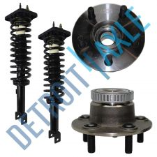 Buy NEW 4 pc Kit - 2 Rear Wheel Hub and Bearing Assembly w/ ABS + 2 Ready Strut Set