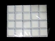 Buy 20 pcs Gem Tool Display Boxes Square White Boxes W/ Lids Top Glass 4x4x1.5 cm.