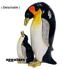 Buy RUCINNI Swarovski Crystals BeJeweled PENGUIN Birds Trinket BOXES Set Happy Feet