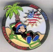 Buy Disney Mickey Mouse Retreat cast members USA Flag Patriotic pin/pins