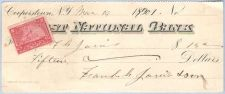 Buy New York Cooperstown Cancelled Check First National Bank Check # Dated: Ma~47