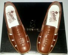 Buy RIEKER Brown Leather Casual Loafer Doris 85 Low Shoes-Women's 7-7.5 N-B-M (38)