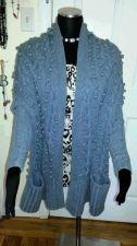 Buy Women's Loose Modern Cardigan Gray By VS Moda International-30% Wool-Size XS