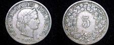 Buy 1906 Swiss 5 Rappen World Coin - Switzerland