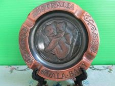 Buy Koala Bear Copper Plate Small Dish Australia Souvenir Metal Ashtray with Stand