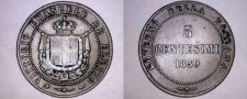 Buy 1859 Italian States Tuscany 5 Centesimi World Coin