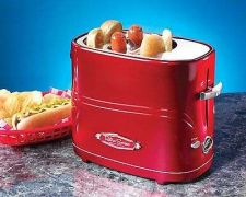 Buy Toaster Nostalgia Electrics Machine Retro Series Pop-Up Hot Dog Grill marks Make