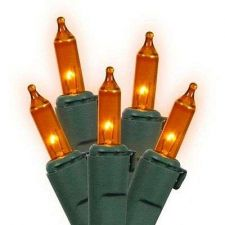 Buy Set Of 100 Orange Mini Christmas Lights Green Wire Halloween Holiday Decor Outdo