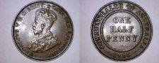 Buy 1935 Australian Half (1/2) Penny World Coin - Australia