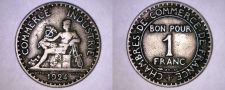 Buy 1924 French 1 Franc World Coin - France - Open 4