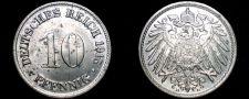 Buy 1915 D German 10 Pfennig World Coin - Germany