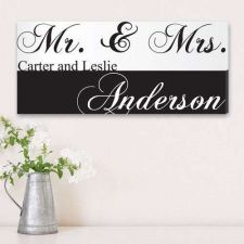 Buy Mr. & Mrs. Couples Canvas Print - Free Personalization