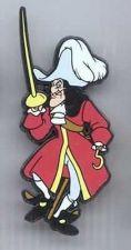 Buy Disney Villain Captain Hook Standing Peter Pan UK platic Pin/Pins