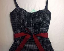 Buy NWT! Black/white/red trim. Polka Dots, Homecoming, Halloween, Wedding!!