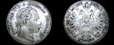 Buy 1870 Austrian 20 Kreuzer World Silver Coin - Austria