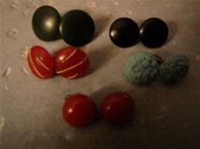 Buy Lot of 5 Pairs of Vintage Clip-on Earrings # 103