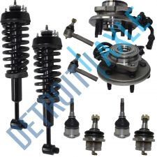 Buy 10 pc Set: Front Wheel Hub Bearing and Ready Strut + Ball Joint + Outer Tie Rods