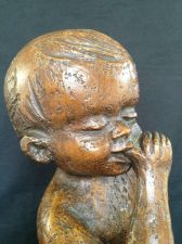 Buy antique bronze baby with nappy . Marked