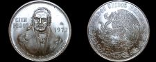 Buy 1977 Mexican 100 Peso World Silver Coin - Mexico Morelos - Low 7s