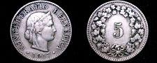Buy 1917-B Swiss 5 Rappen World Coin - Switzerland