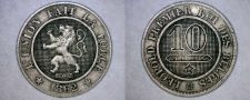 Buy 1862 Belgium 10 Centimes World Coin