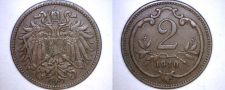 Buy 1910 Austrian 2 Heller World Coin - Austria