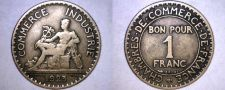 Buy 1925 French 1 Franc World Coin - France
